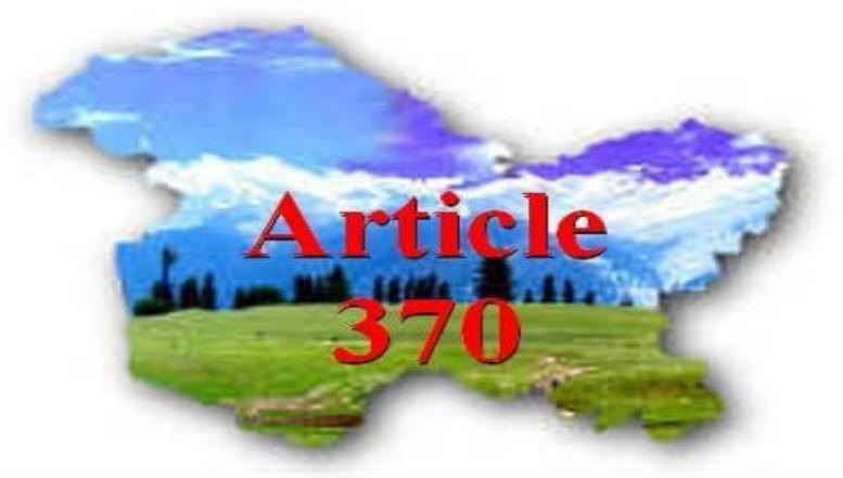 STATUS QUO ARTICLE 370