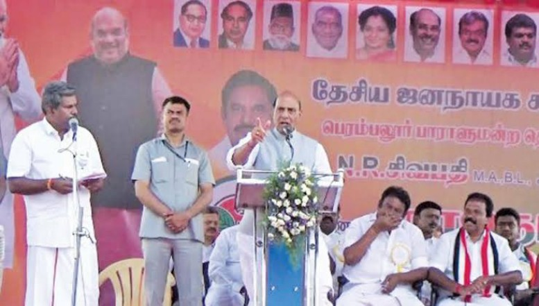 பாஜக ஆட்சி மீண்டும் அமைந்தால் குடிசையில்லா இந்தியாவை 2022-க்குள் உருவாக்குவோம் - ராஜ்நாத் சிங் உறுதி
