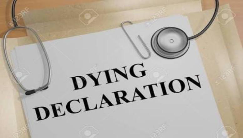 A DYING DECLARATION