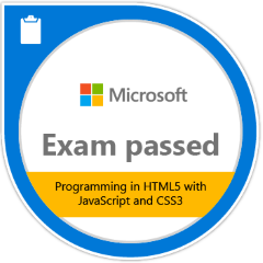MS Exam 480 - Programming in HTML5 with JavaScript and CSS
