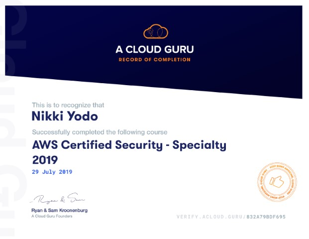AWS Certified Security - Speciality