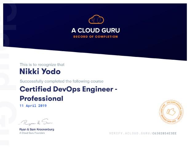 AWS Certified DevOps Engineer Profesional