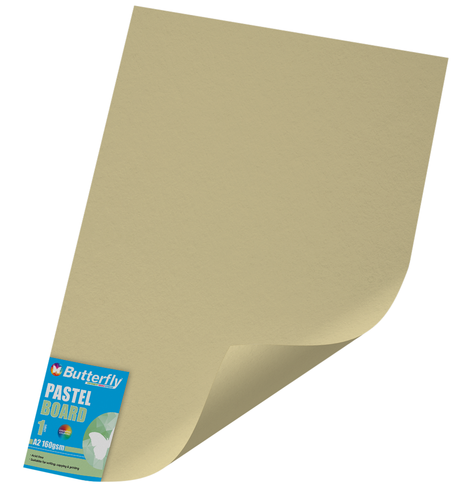 A2 Pastel Board - 160gsm Single Wrapped Buff
