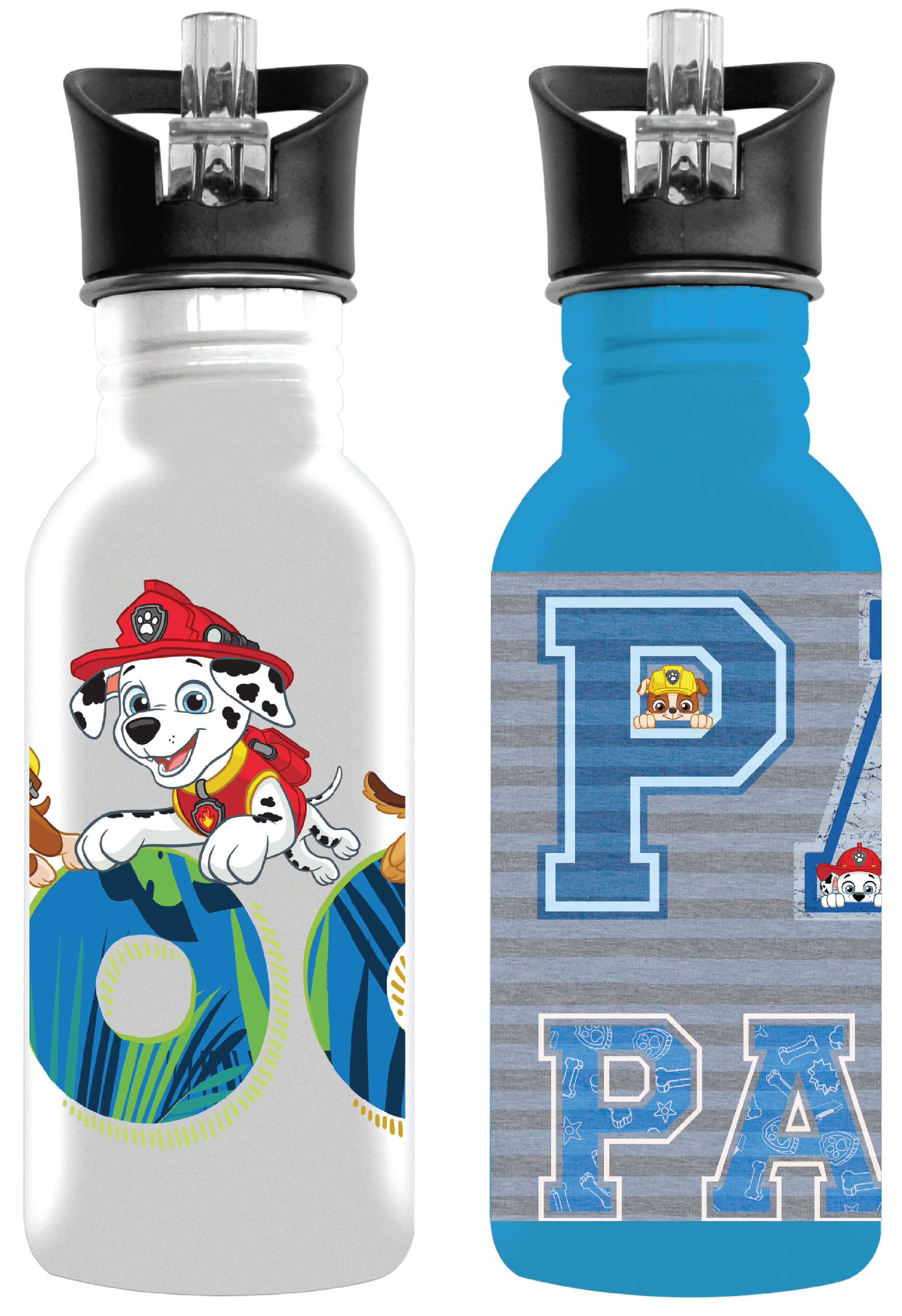 Paw Patrol Boys Aluminium Drinking Bottles (You Get 1 of 2 Designs)