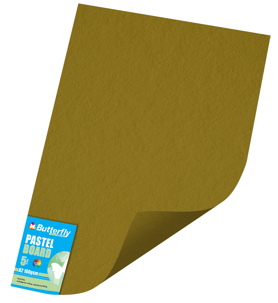 A2 Pastel Board - Pack of 5 Gold