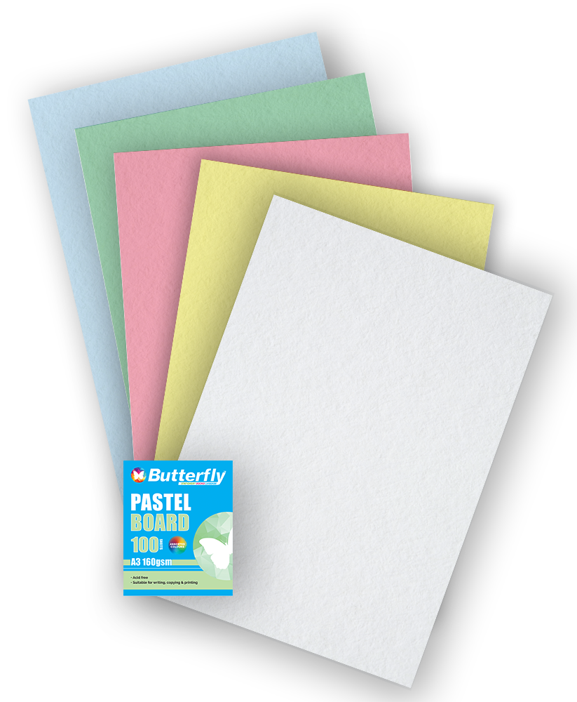 Mixed A3 Pastel Board - Pack of 100