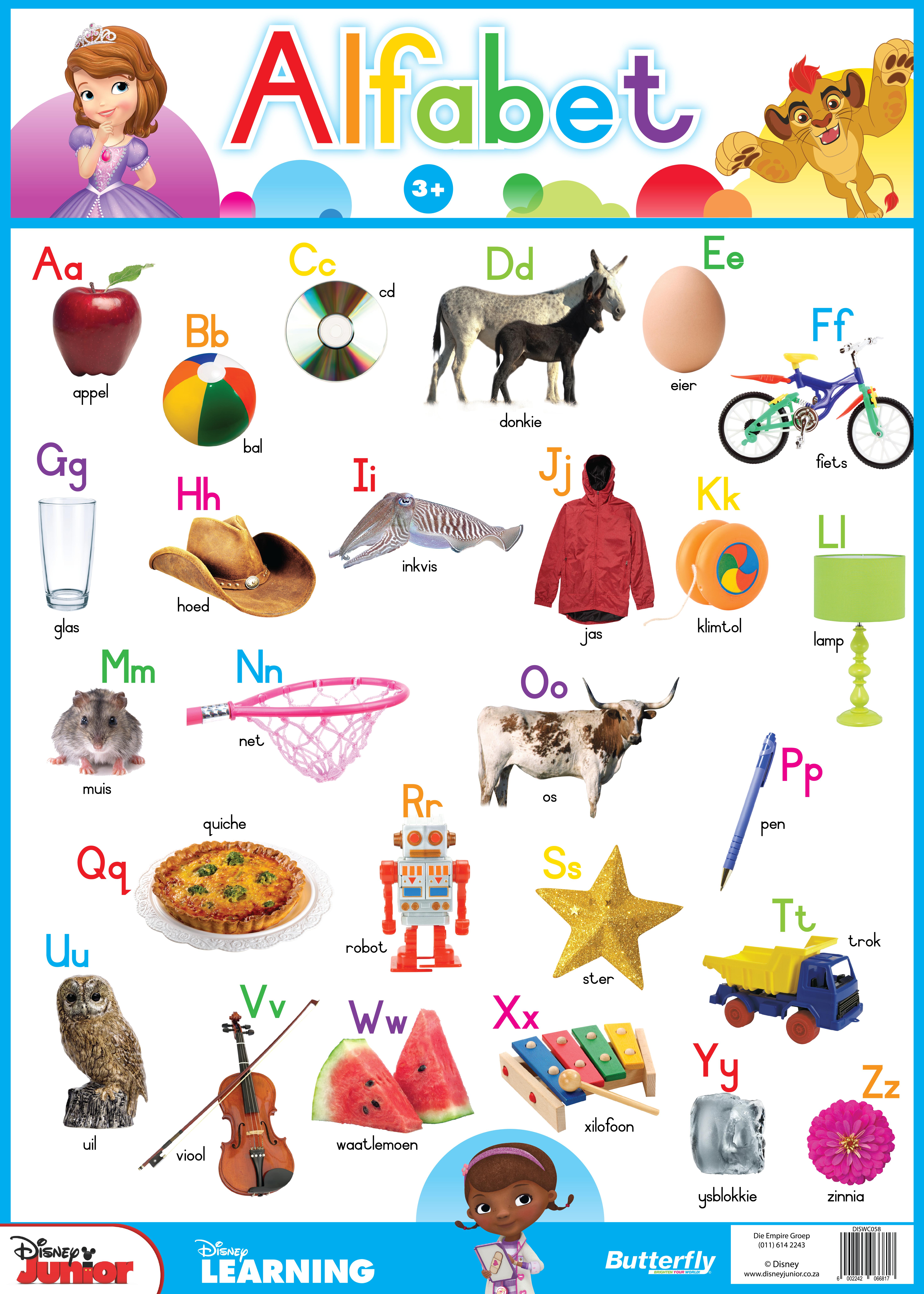 Disney Plakkaat - Alfabet