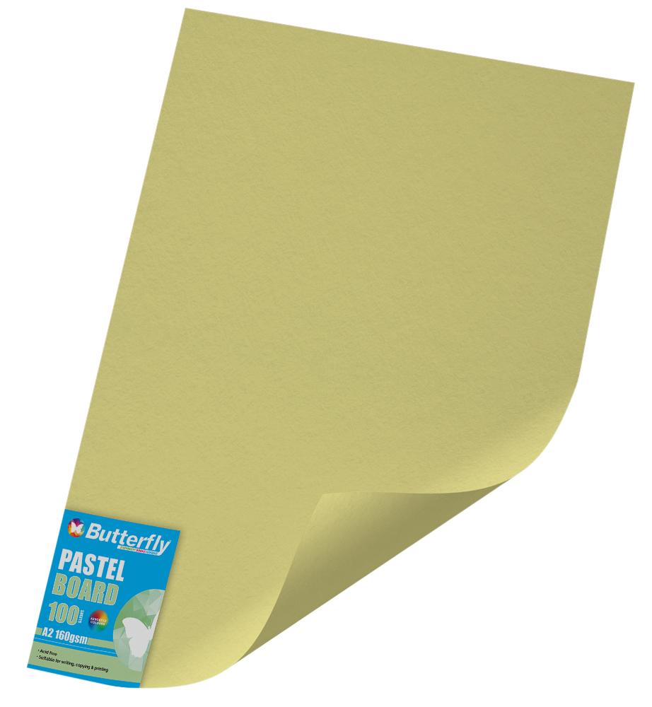 A2 Pastel Board - Pack of 100 Yellow