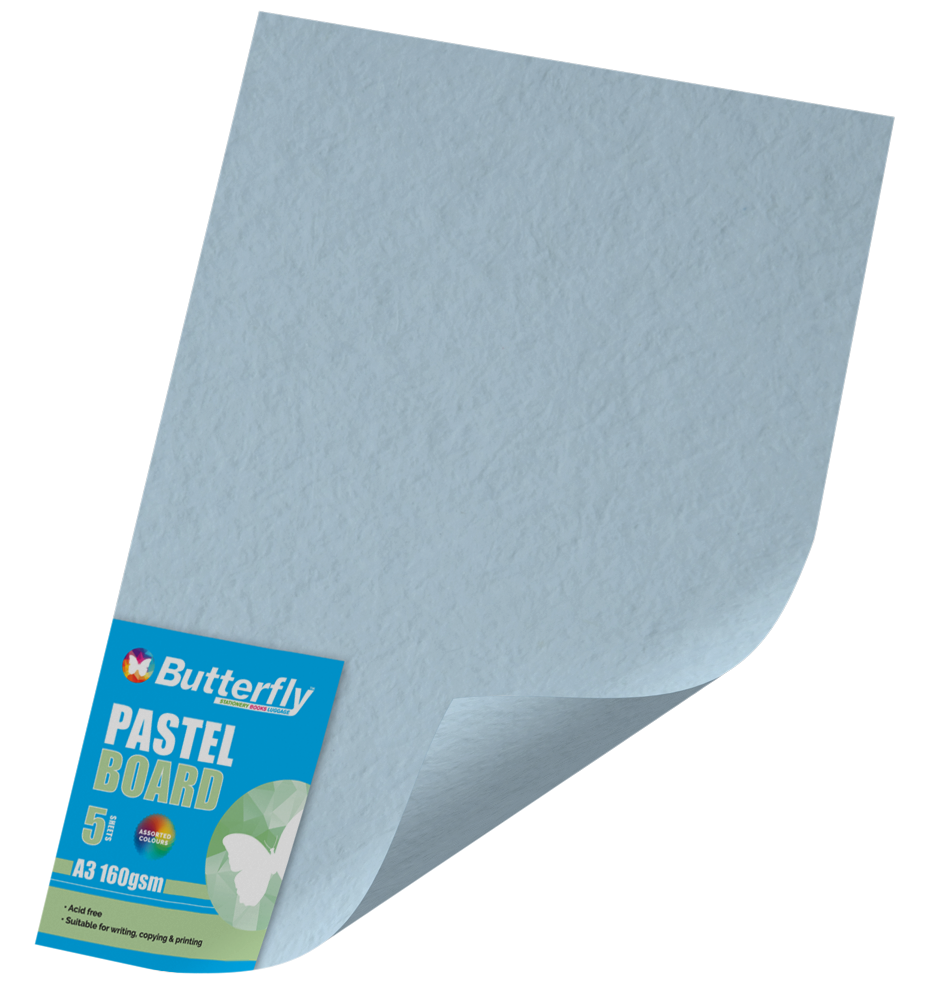 A3 Pastel Board - Pack of 5 Blue