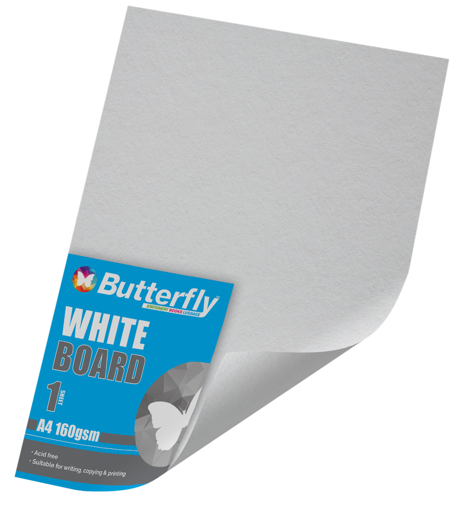 A4 Pastel Board - 160gsm Single White