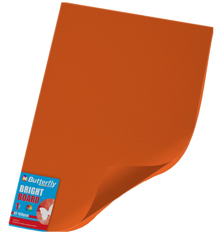 A2 Bright Board - 160gsm Single Orange