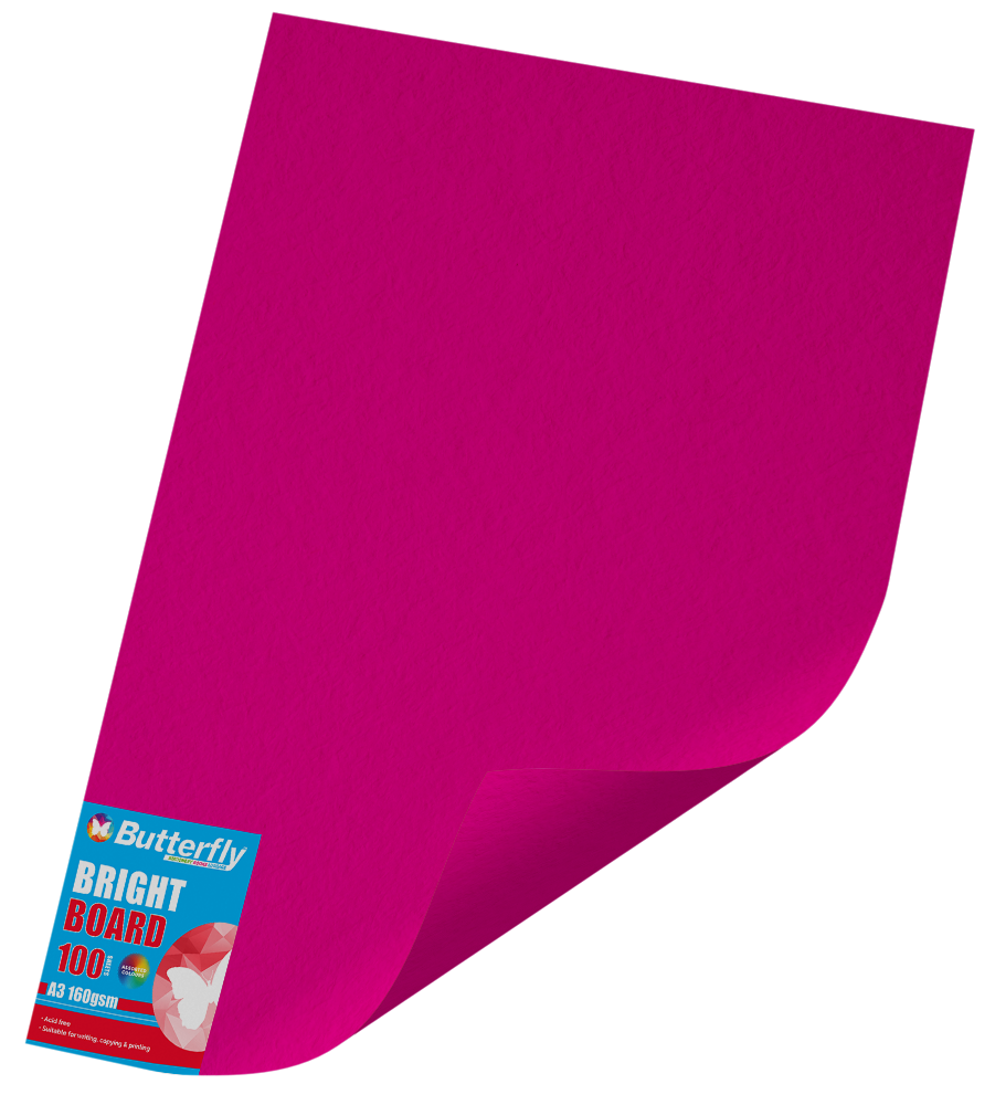 A3 Bright Board - Pack of 100 Pink
