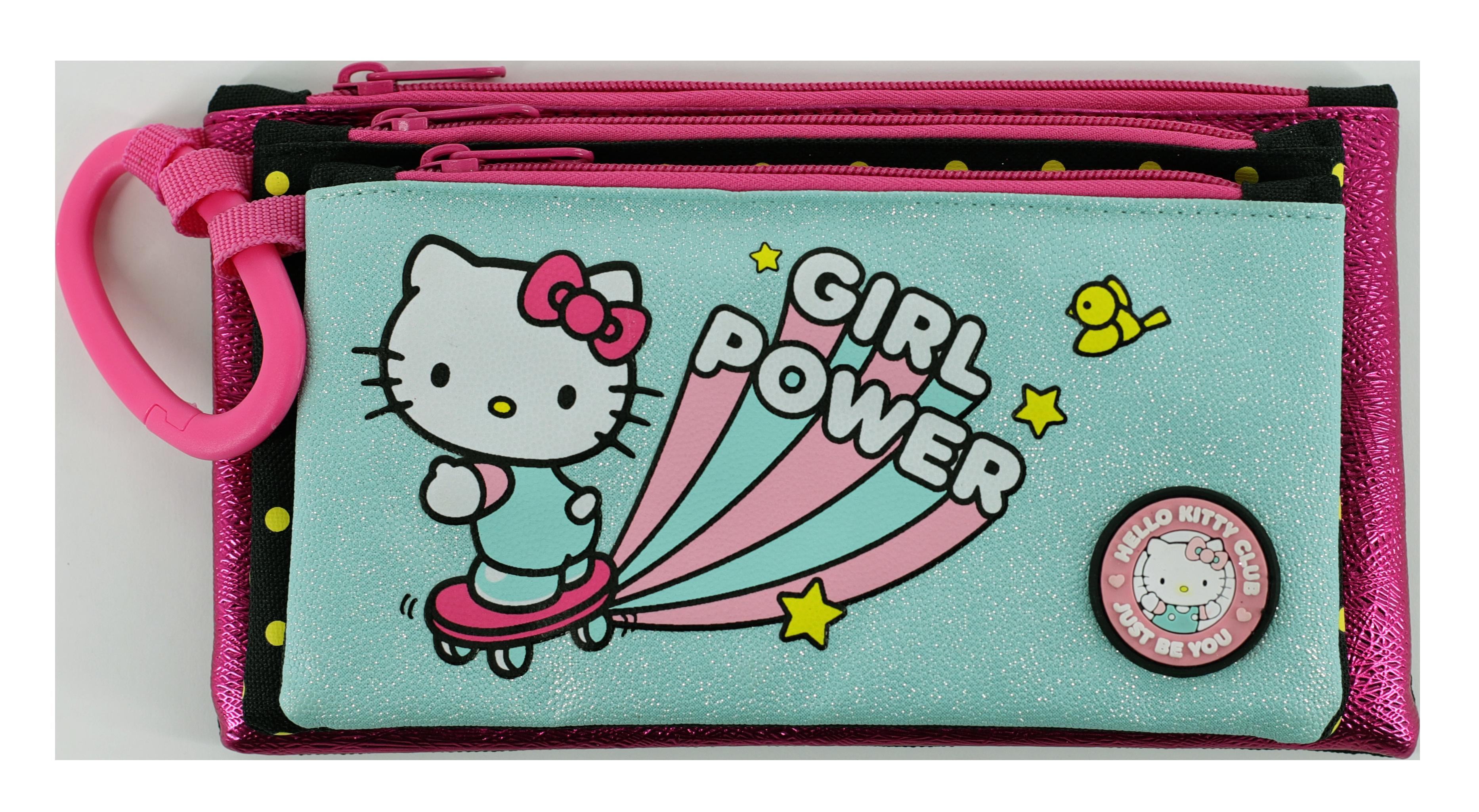 Hello Kitty - 3 Compartment Pencil Case 23cm