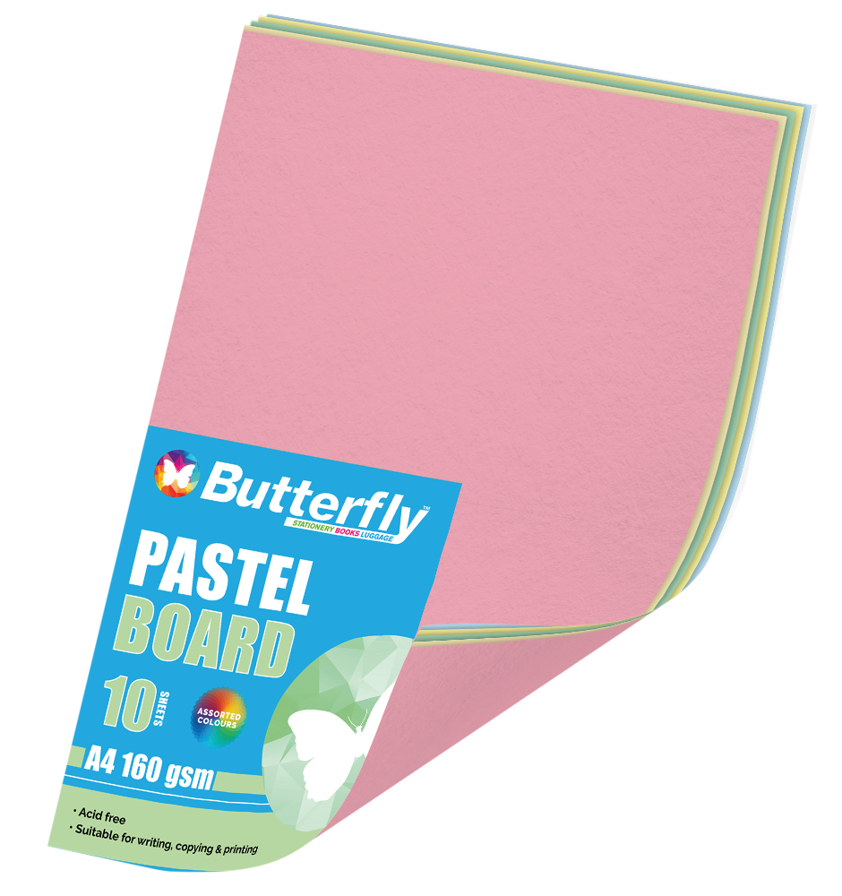 Assorted A4 Pastel Board - Pack of 10