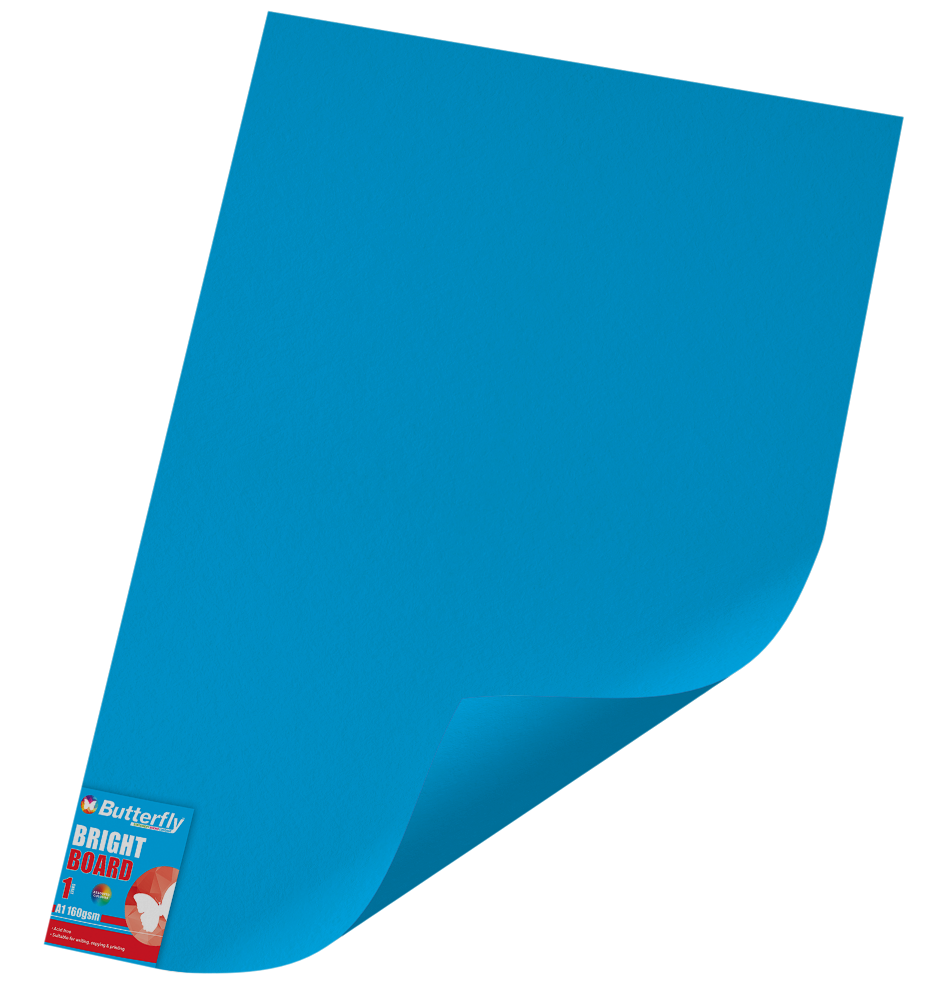 A1 Bright Board - 160gsm Single Wrapped Blue