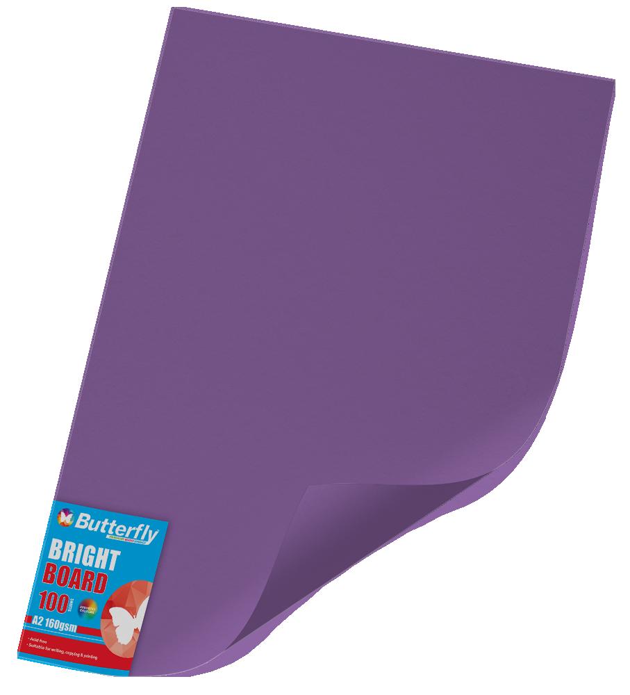 A2 Board Bright - Pack of 100 Purple