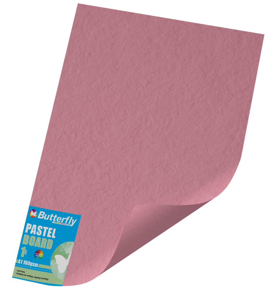 Assorted A1 Pastel Board - 160gsm Single Wrapped