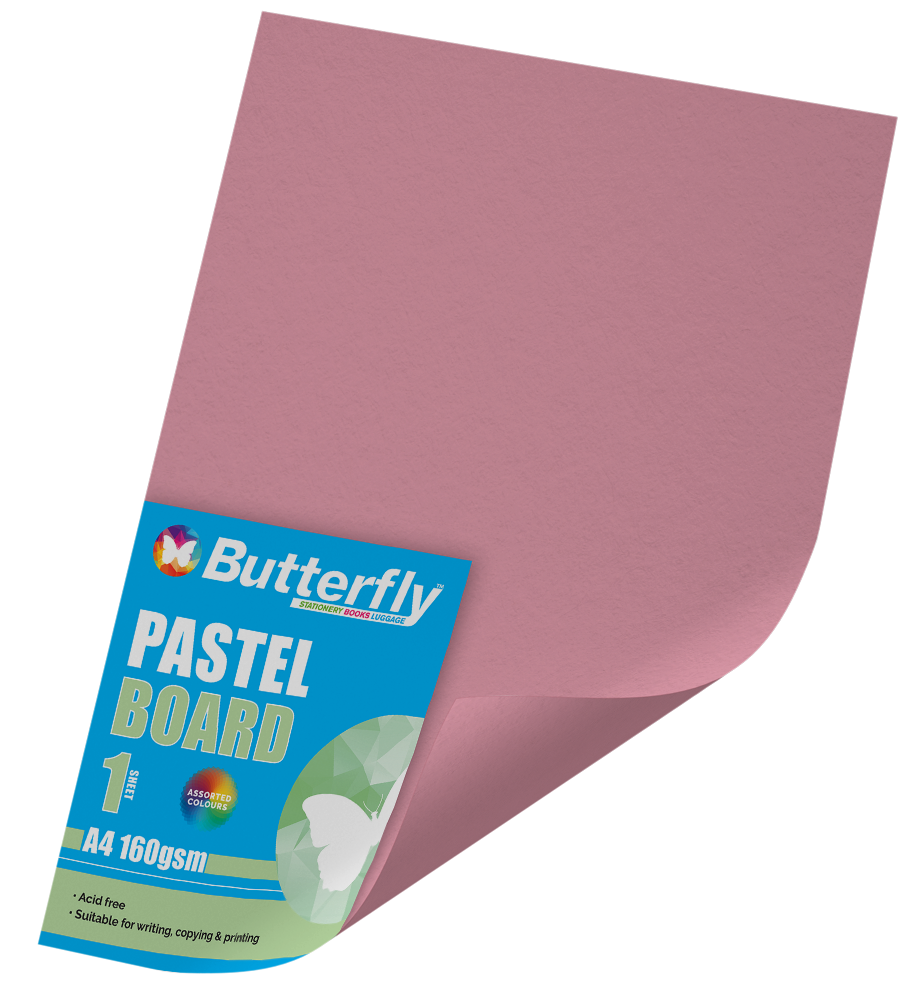 A4 Pastel Board - 160gsm Single Pink