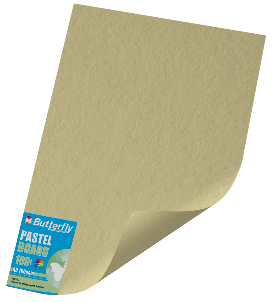 A3 Pastel Board - Pack of 100 Buff