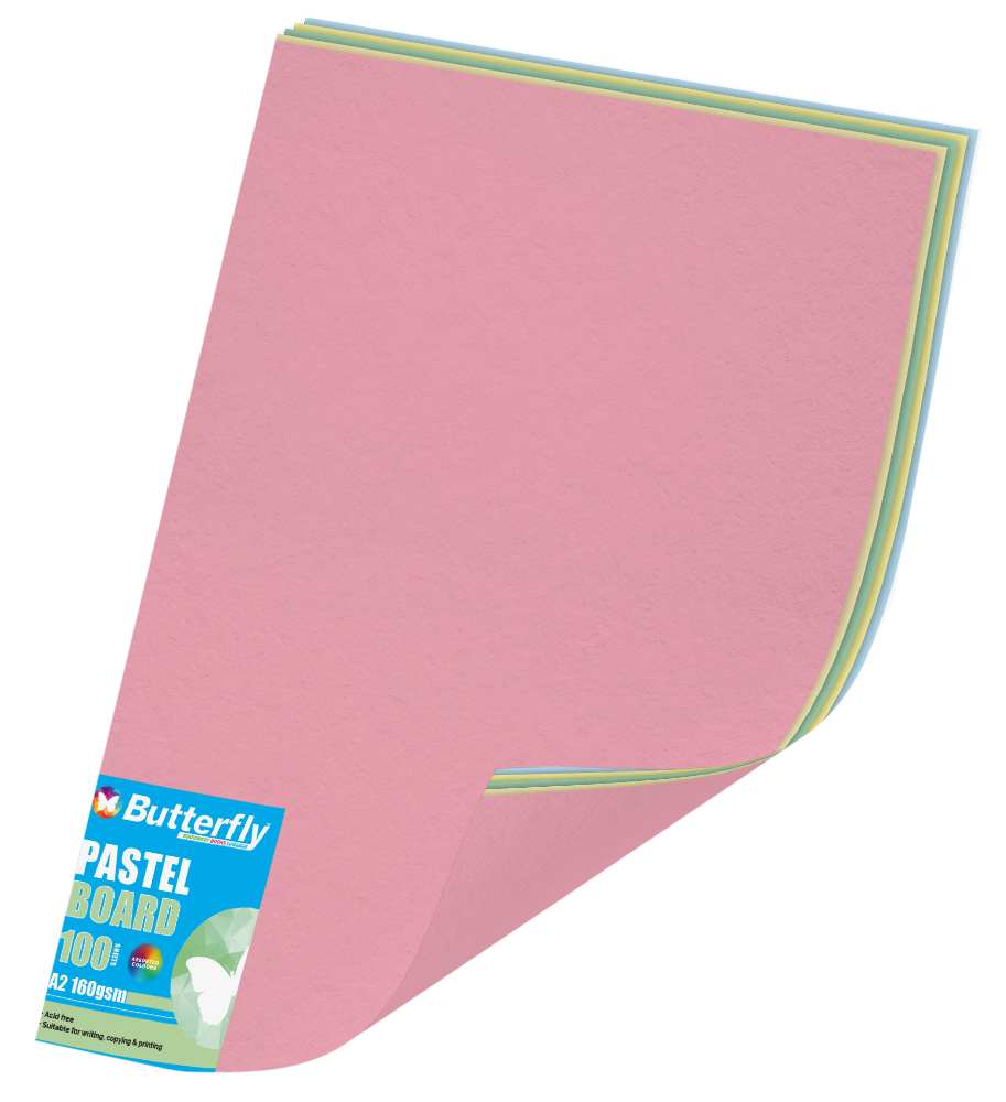 Assorted A2 Pastel Board - Pack of 100