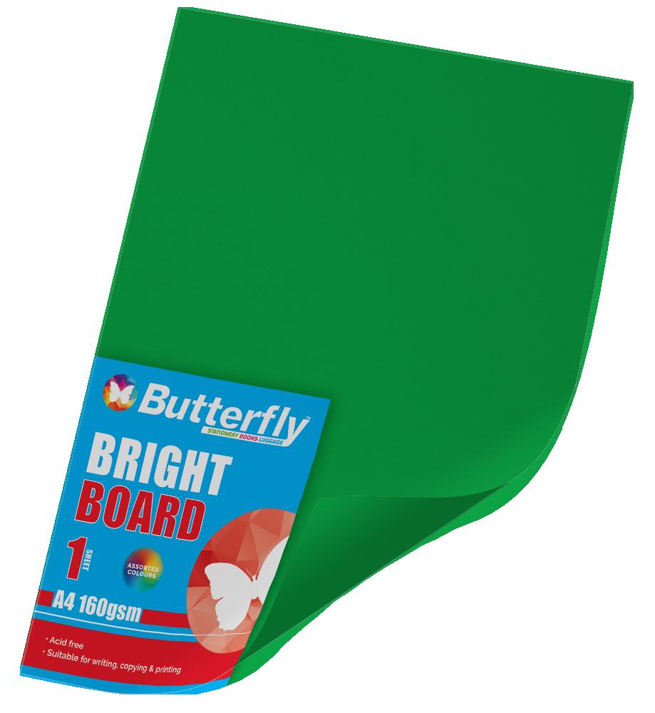 A4 Bright Board - 160gsm Single Green