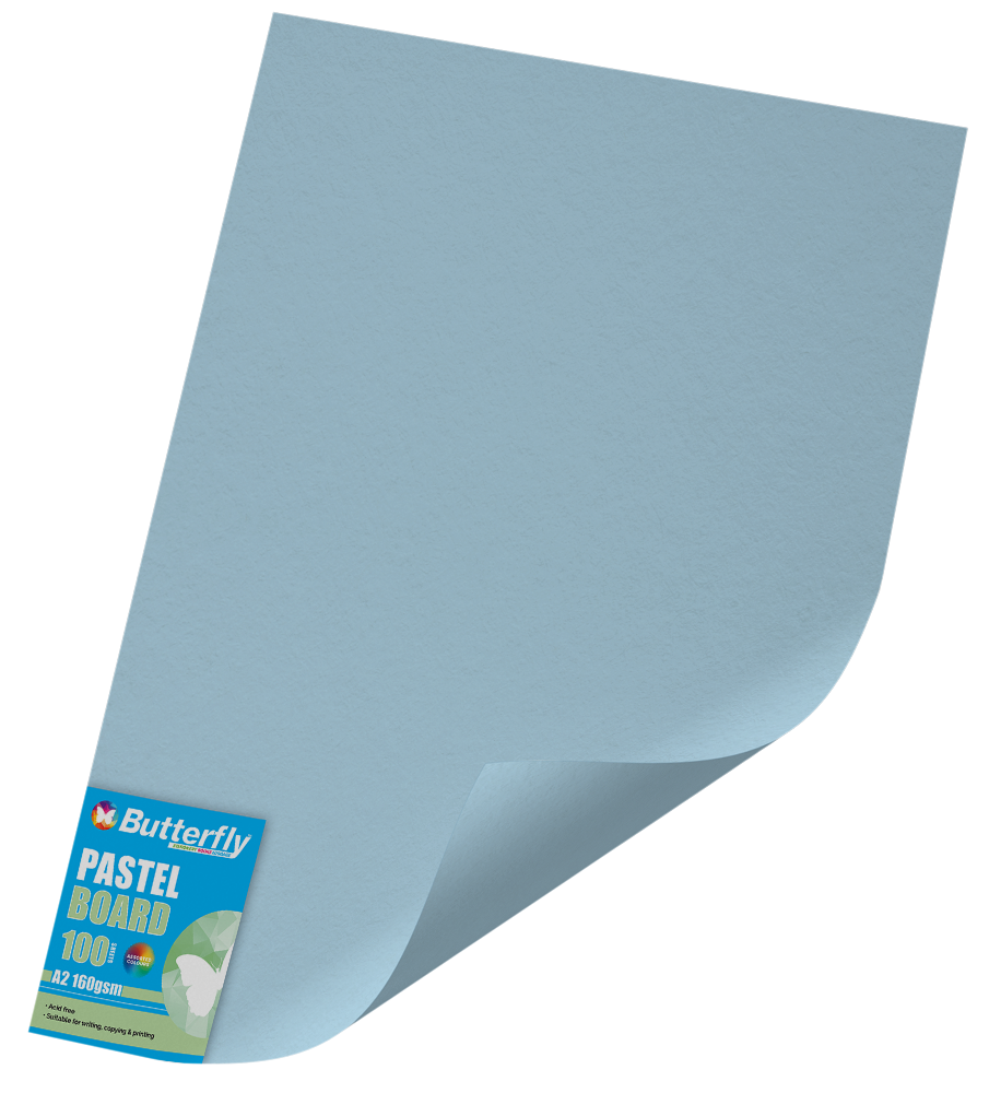 A2 Pastel Board - Pack of 100 Blue
