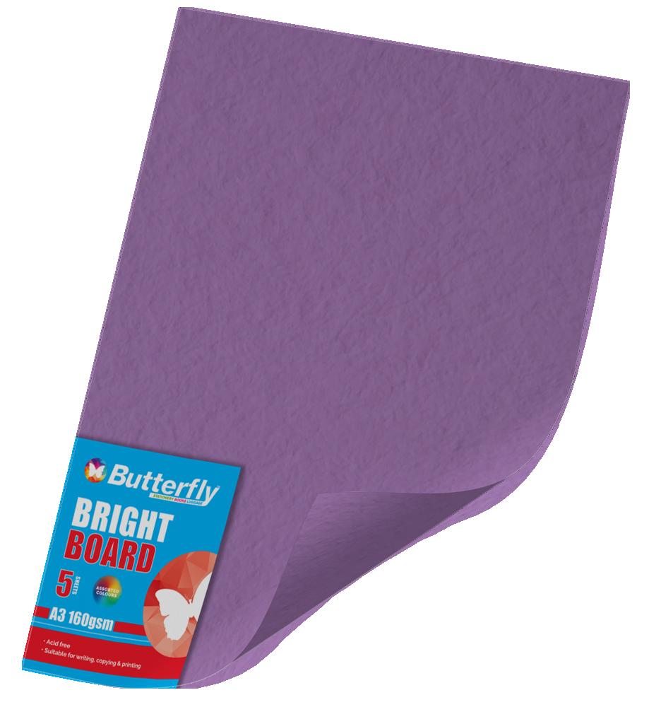A3 Bright Board - Pack of 5 Purple