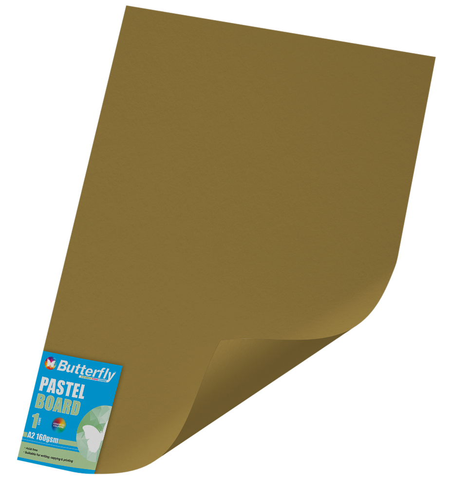 A2 Pastel Board - 160gsm Single Wrapped Gold