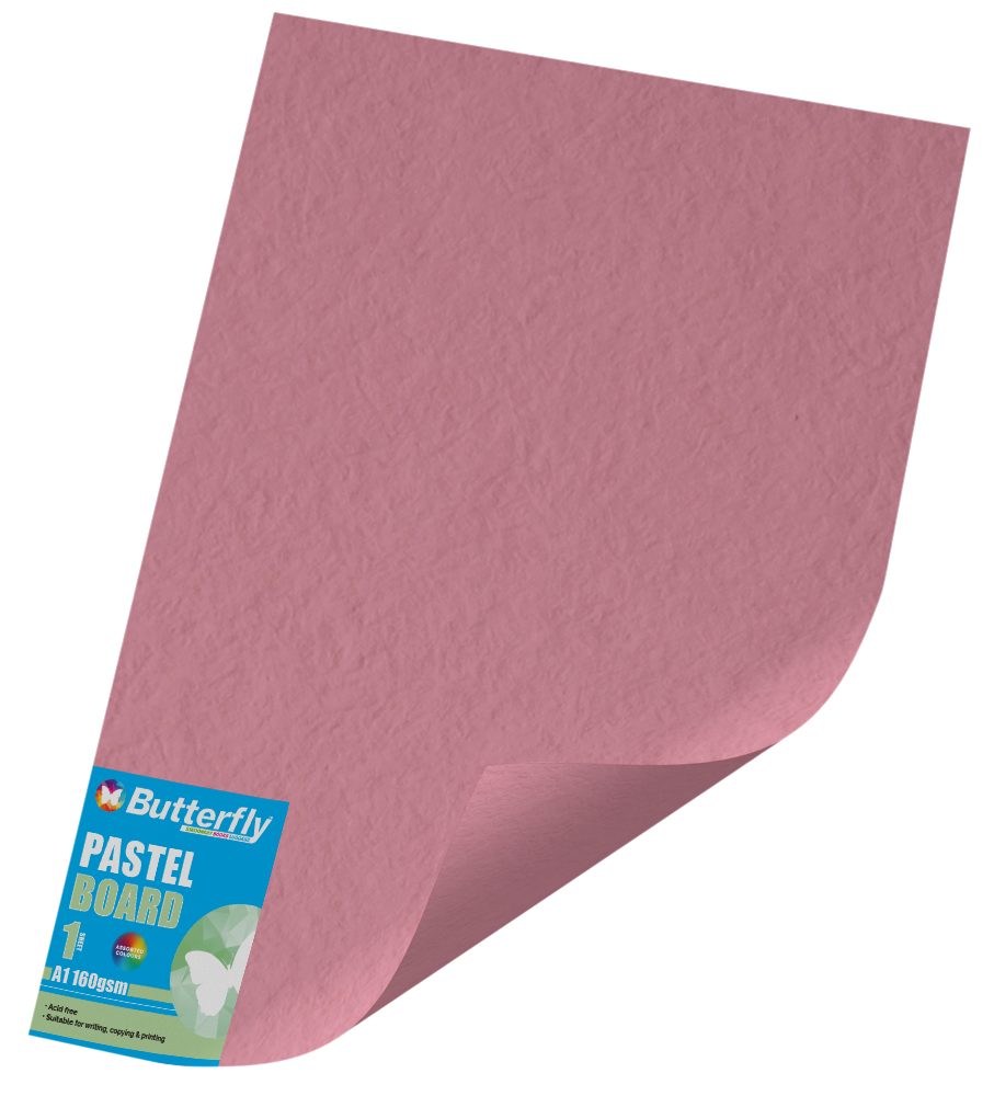 Assorted A1 Pastel Board - 160gsm Single Unwrapped