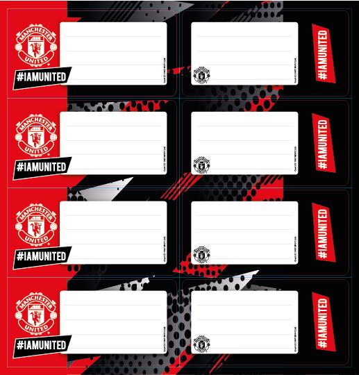 Man United - Self Adhesive Labels 16