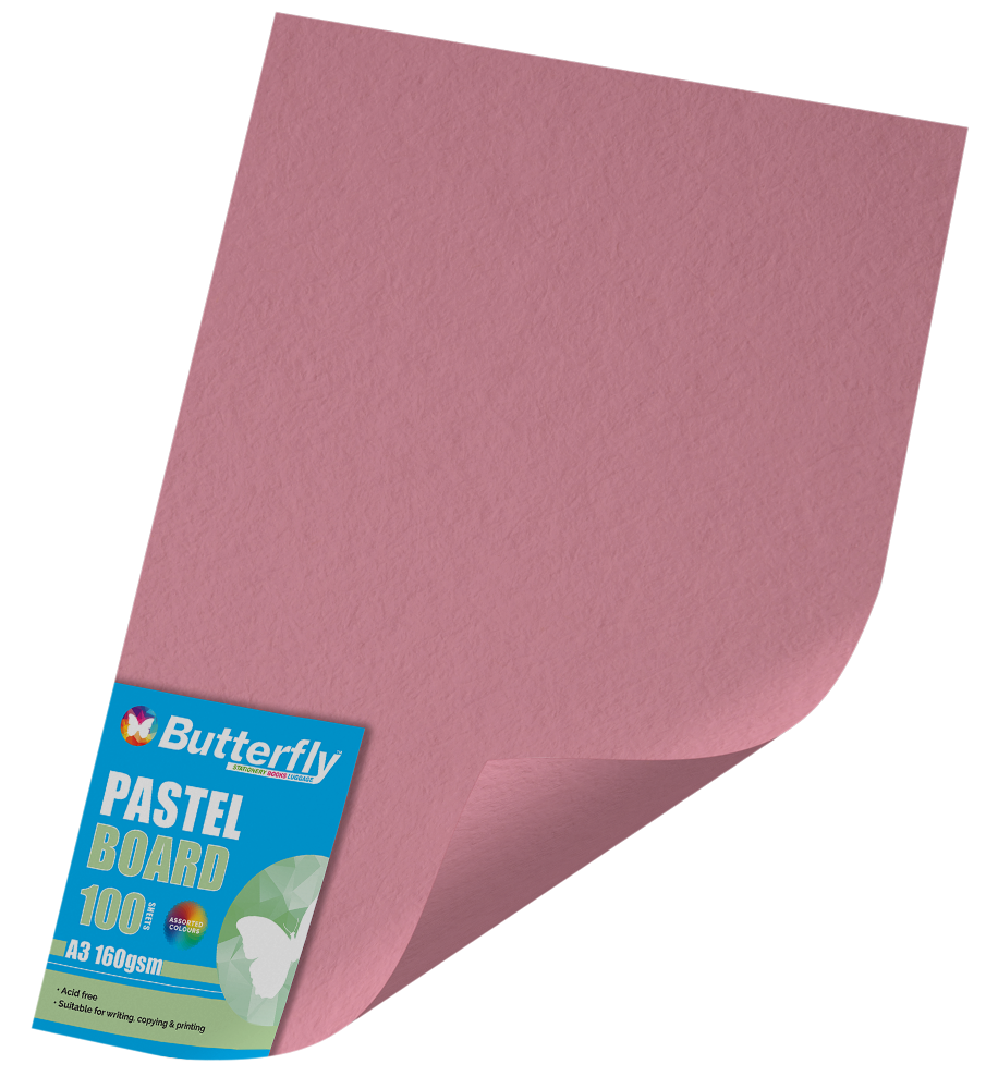 A3 Pastel Board - Pack of 100 Pink