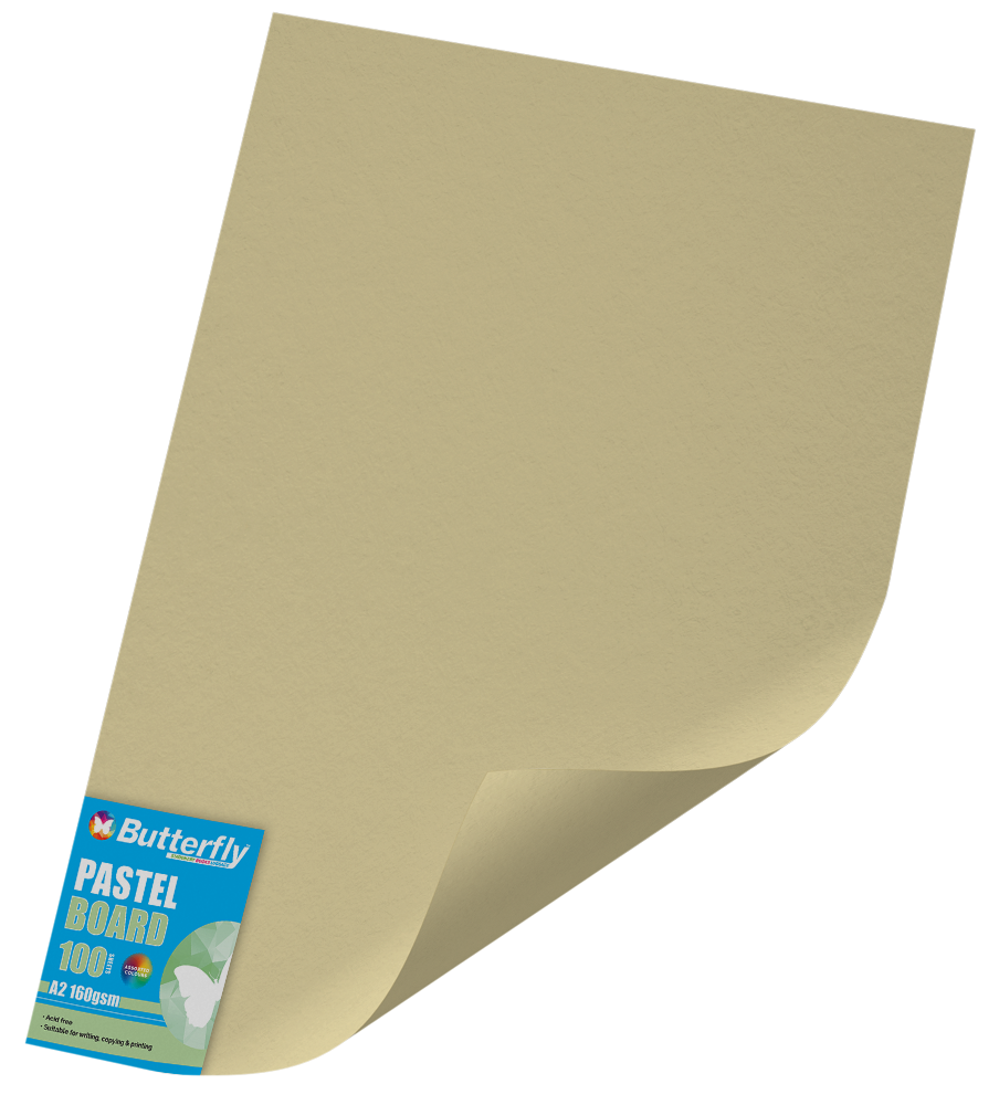 A2 Pastel Board - Pack of 100 Buff