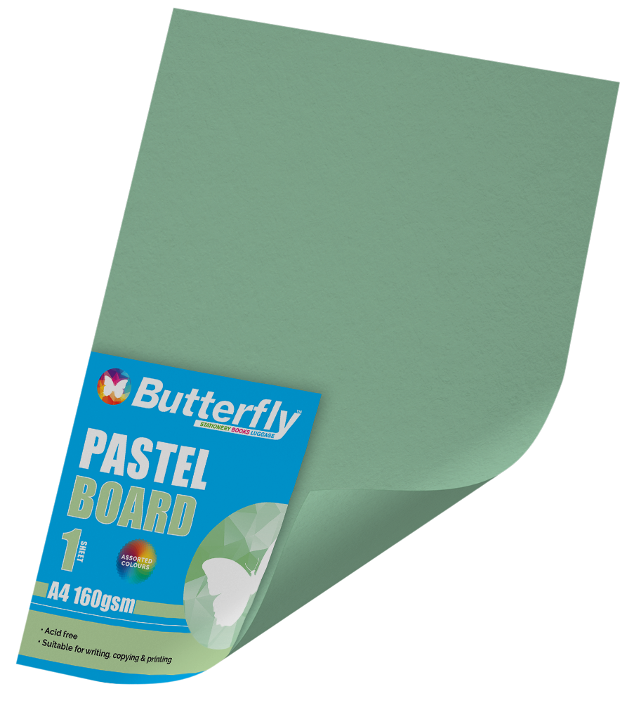 A4 Pastel Board - 160gsm Single Green