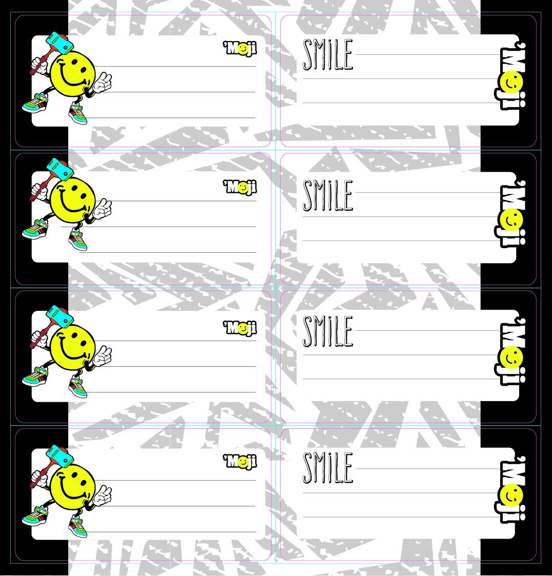 Moji - Self Adhesive Labels 16