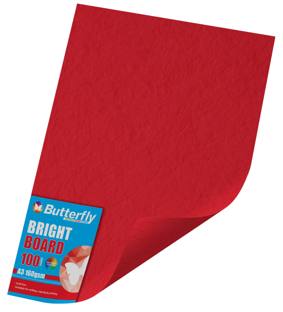A3 Bright Board - Pack of 100 Red