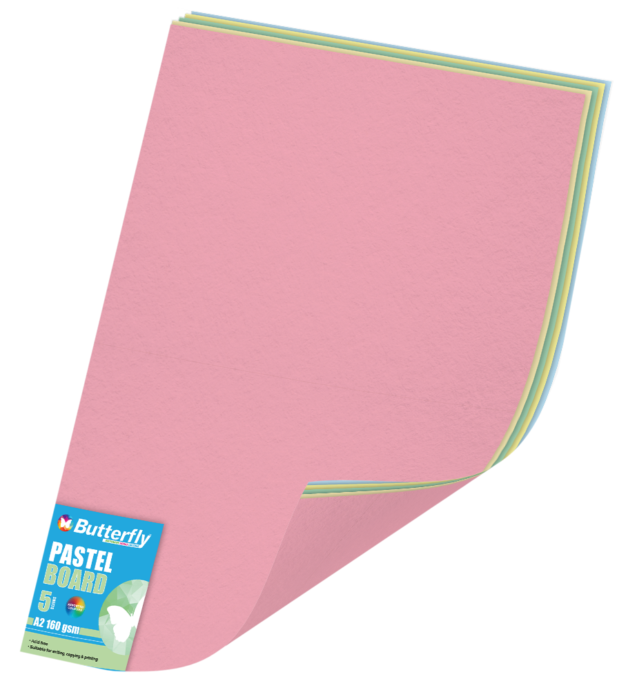 Assorted A2 Bright Board - Pack of 5