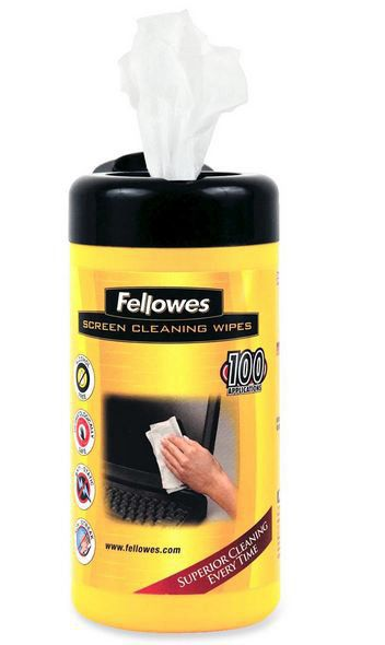 Fellowes Screen Cleaning Wipes 100'S
