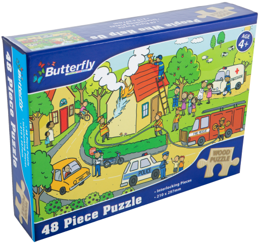 Butterfly A4 Wooden Puzzle - 48 Pieces (You get 1 of 6 Designs)