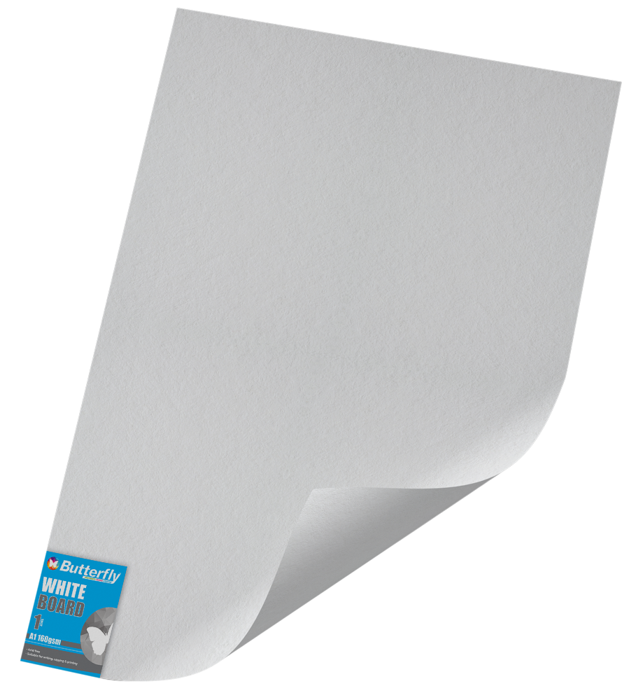 A1 Pastel Board - 160gsm Single Wrapped White