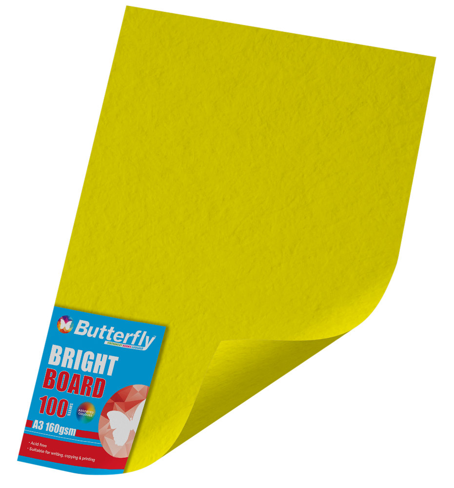 A3 Bright Board - Pack of 100 Yellow