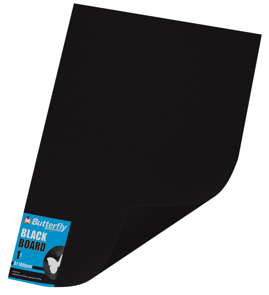 A2 Board Bright - Pack of 100 Black