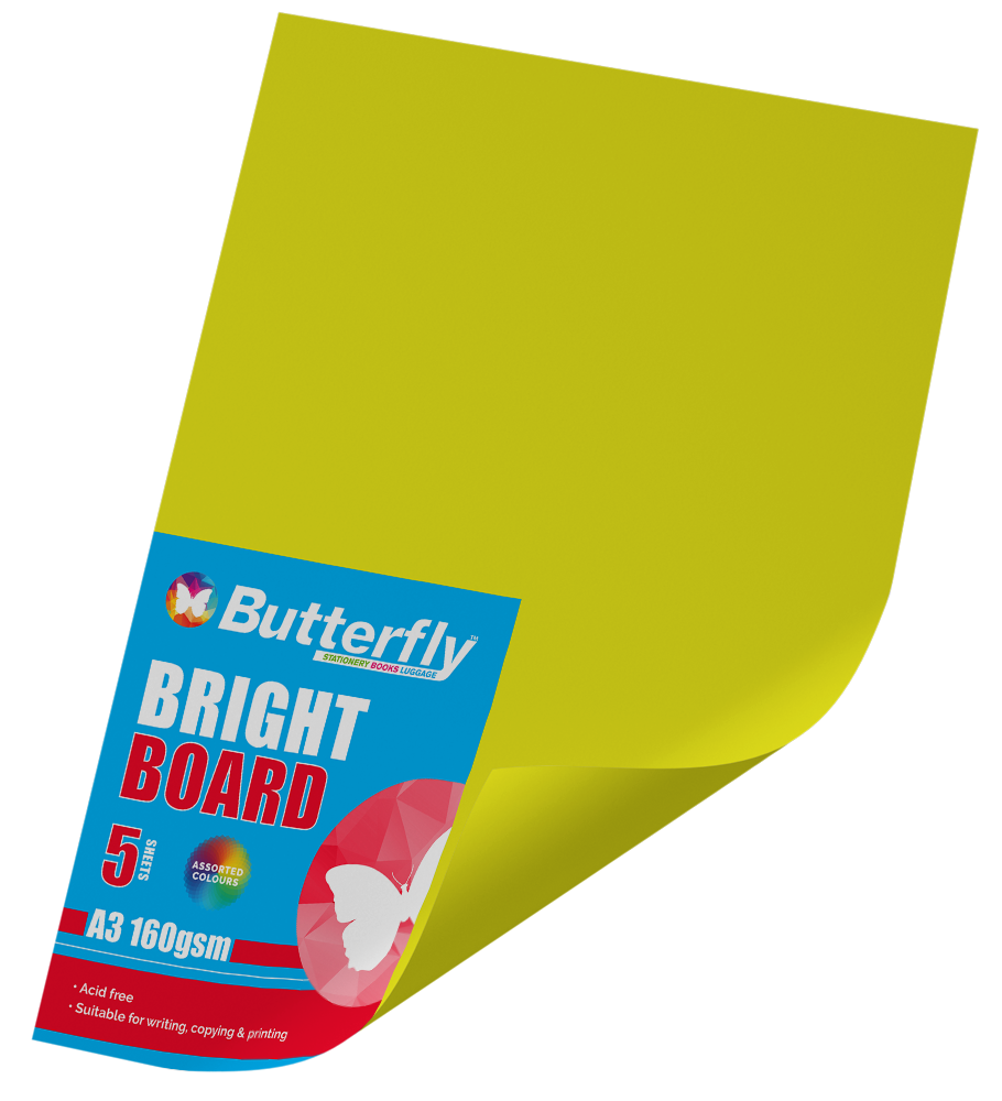 A3 Bright Board - Pack of 5 Yellow