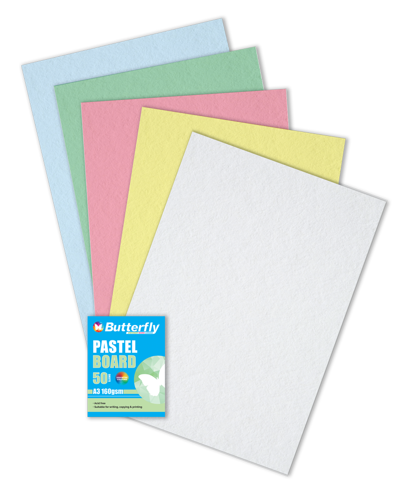Assorted A3 Pastel Board - Pack of 50