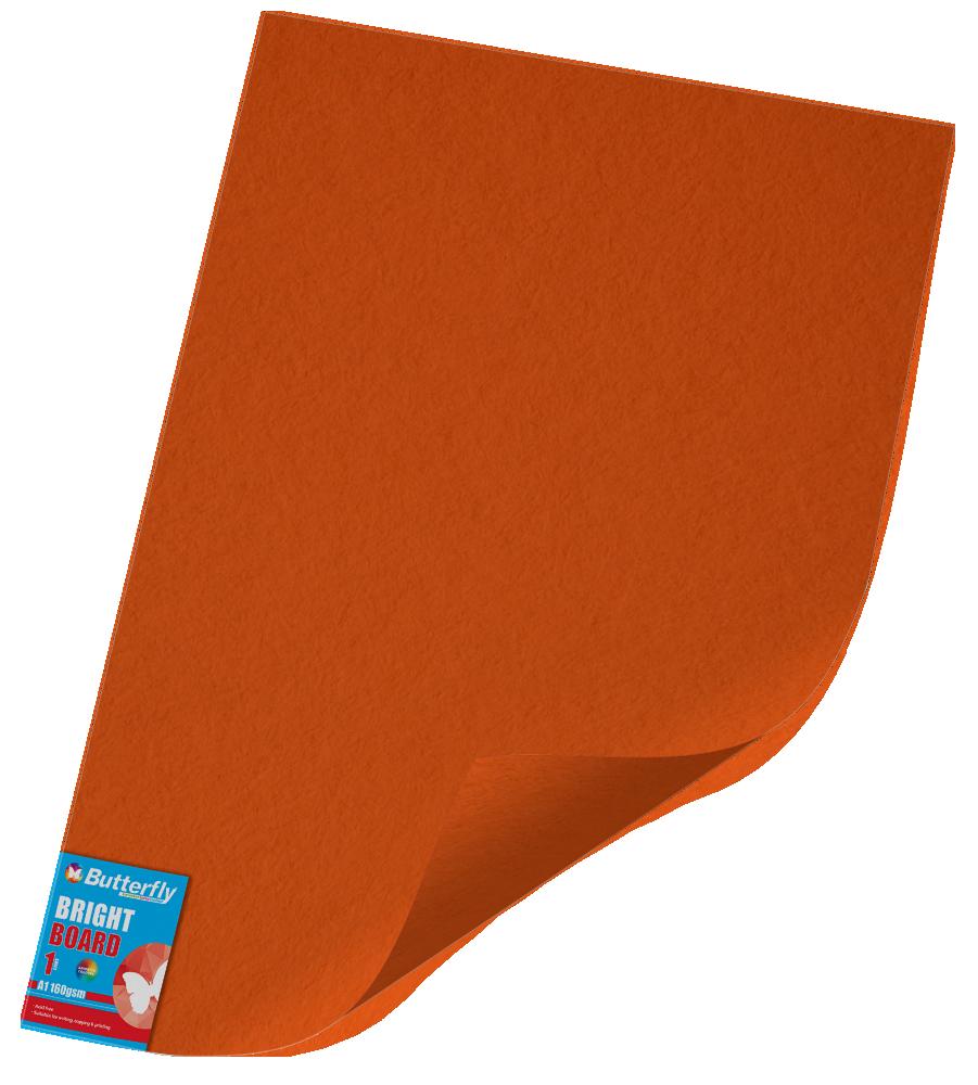 A1 Bright Board - 160gsm Single Unwrapped Orange