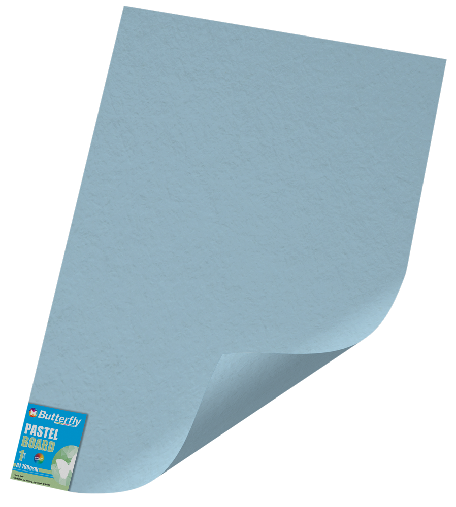 A1 Pastel Board - 160gsm Single Unwrapped Blue
