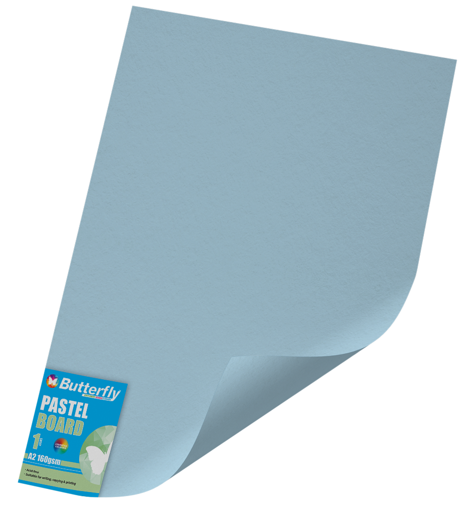 A2 Pastel Board - 160gsm Single Wrapped Blue