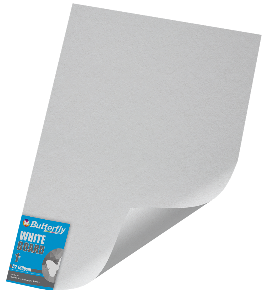 A2 Pastel Board - Pack of 100 White