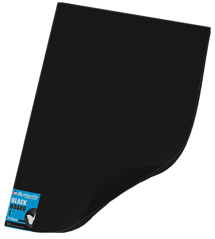 A1 Bright Board - 160gsm Single Wrapped Black