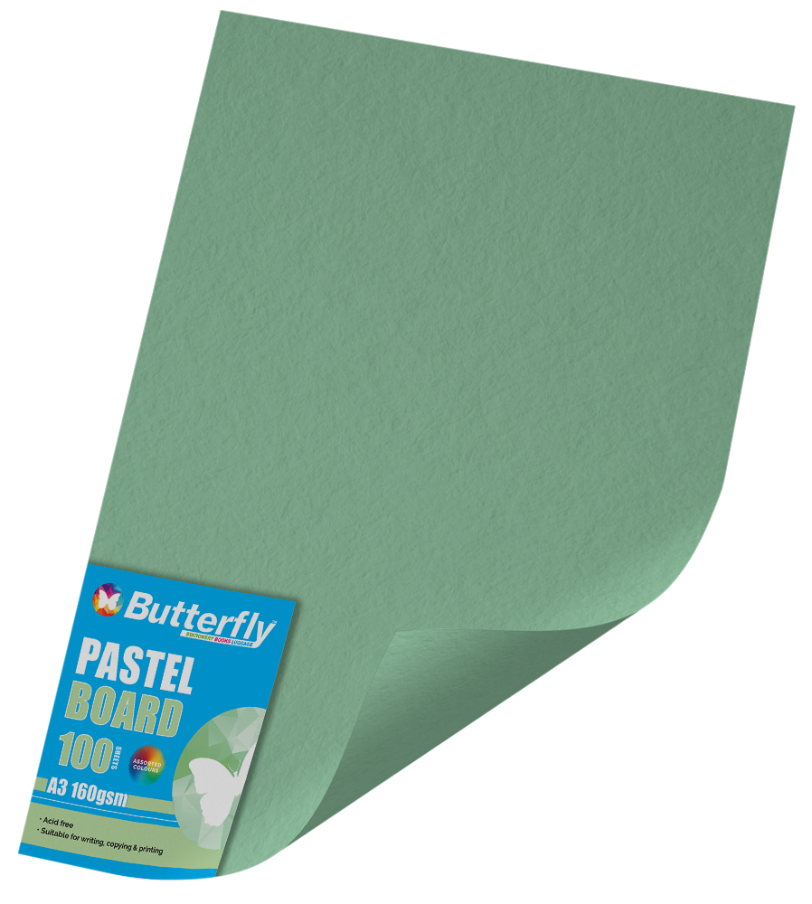 A3 Pastel Board - Pack of 100 Green