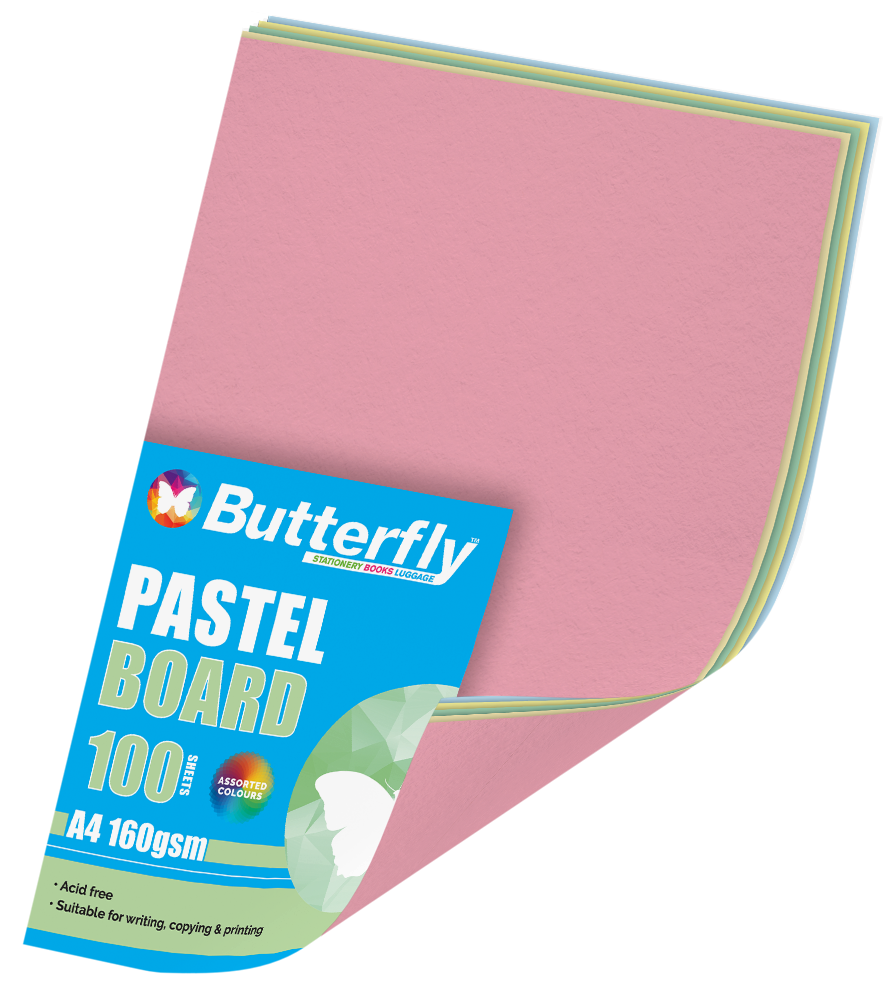 Assorted A4 Pastel Board - Pack of 100